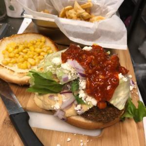 falafel hummus burger
